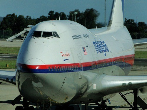 A Malaysian Airlines jumbo jet