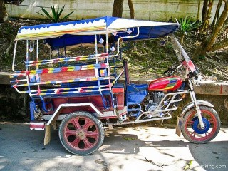 The Most Colorful Tuk-Tuk in Vientiane