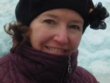 Elaine at Seward Glacier, Alaska
