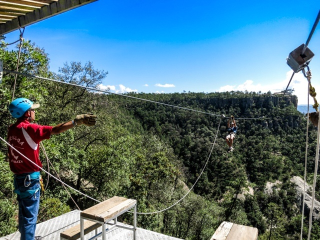 Copper Canyon Zipline Platform