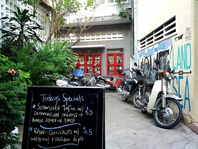 ARTillery's specials for the day on one of the cutest streets