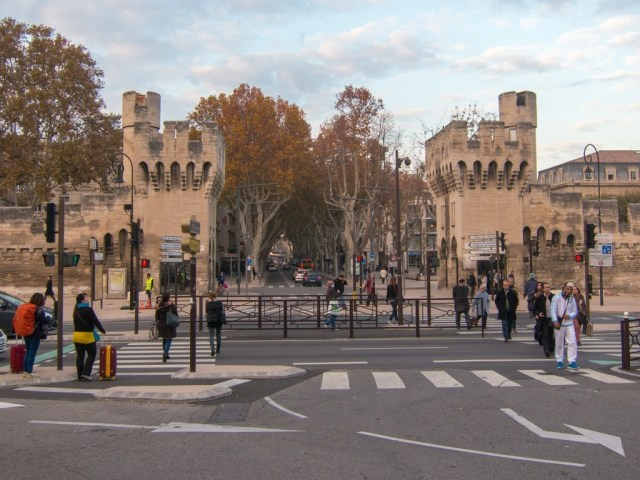 Entrance to Avignon as viewed from the train station