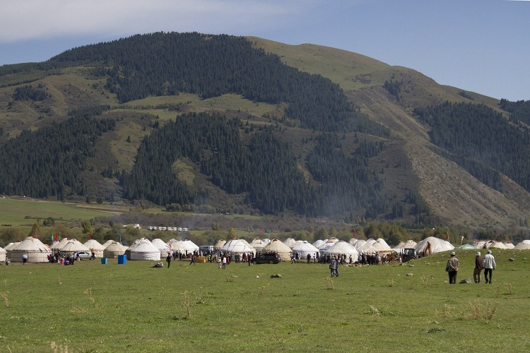 The yurt village at the world nomad games.
