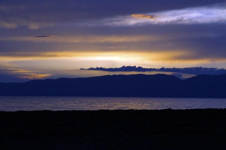 Sunset over Song Kol Lake.