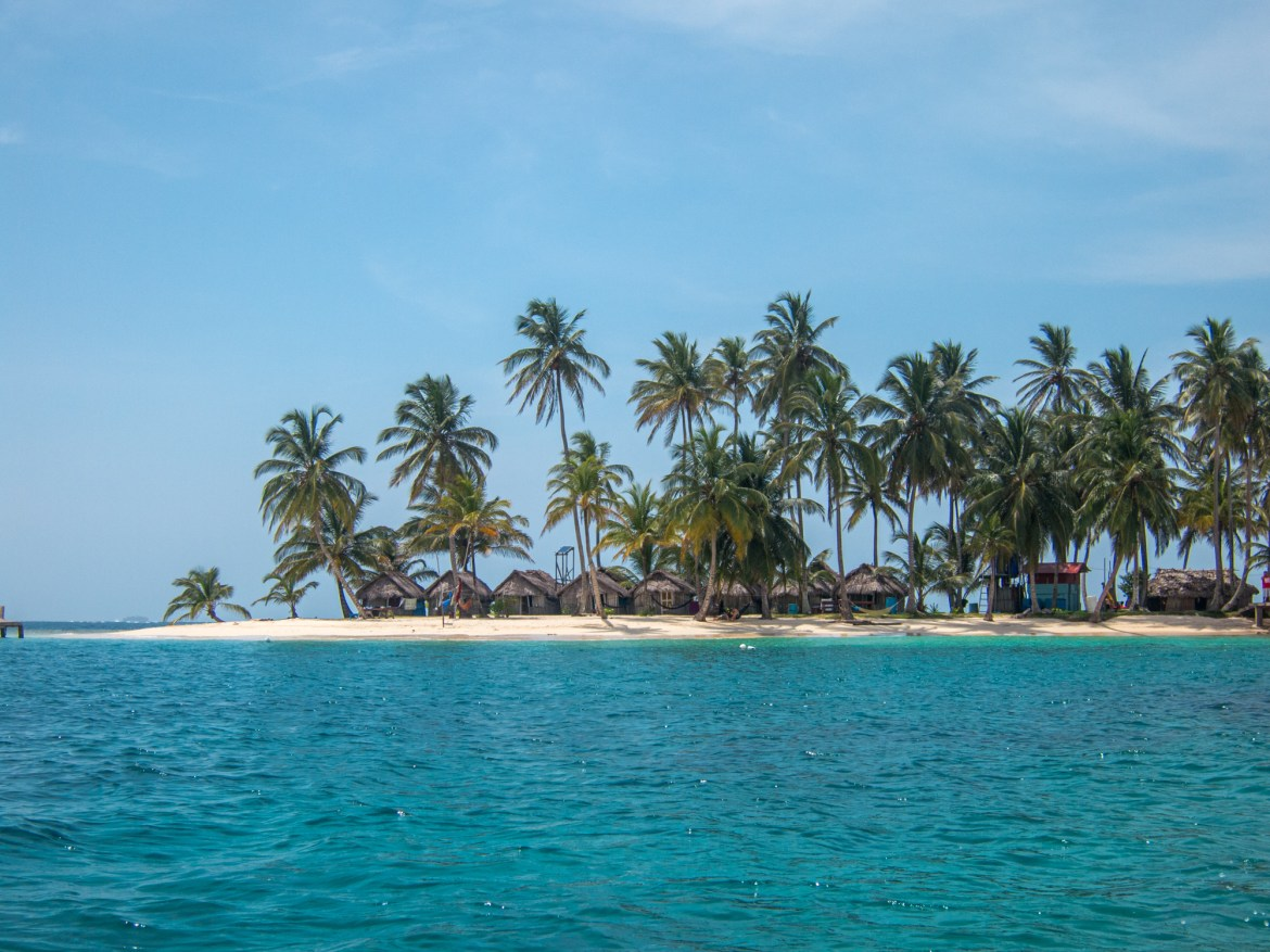Bungalows on Kuanidup, one of the San Blas Islands