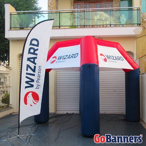 Foto Wind Banner 4m e Tenda 3x3 - WIZARD