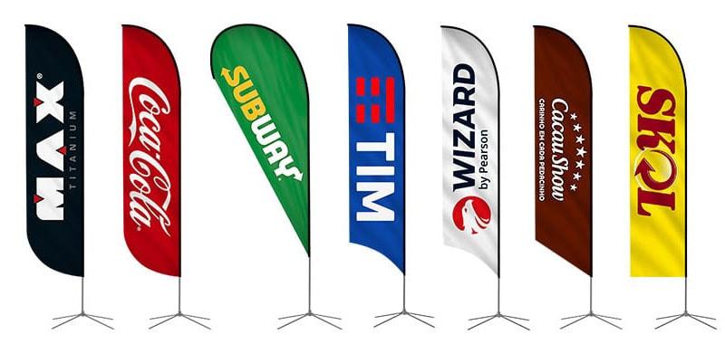 Wind Banner para Propaganda - Modelos Pena e Gota