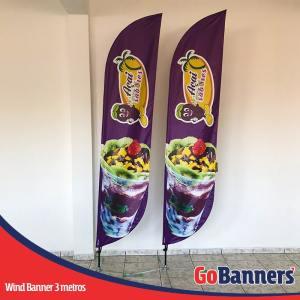 Wind Banner PENA com 3 metros - AÇAÍ DOCES SABORES