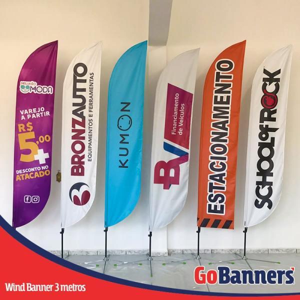 Wind Banners com 3 metros - KUMON