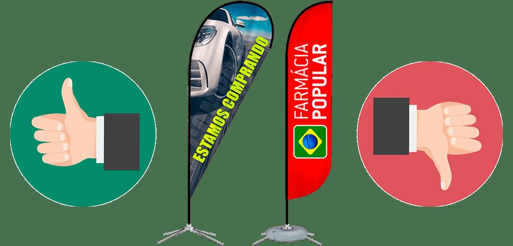 Wind Banners para propaganda vantagens e desvantagens
