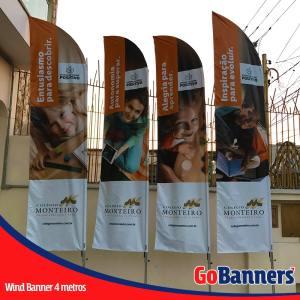 wind flag banner com 4 metros colegio monteiro
