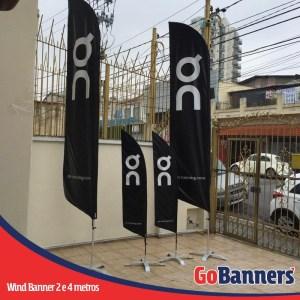 wind flag banner com 2 e 4 metros running