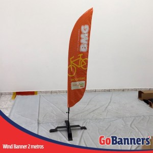wind flag banner com 2 metros bmg