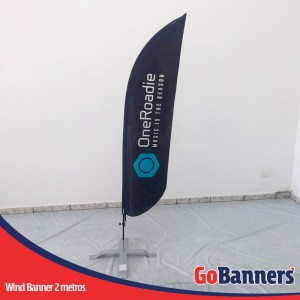 wind flag banner com 2 metros oneroadie music