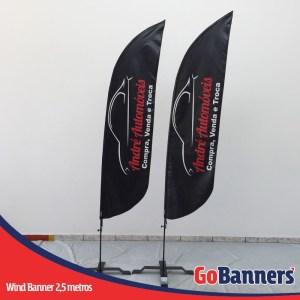 wind flag banner com 2,5 metros Revenda Automoveis