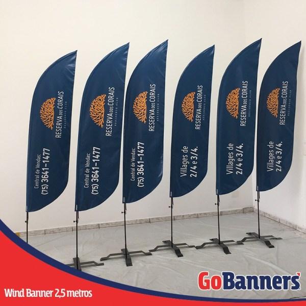 wind flag banner com 2,5 metros central de vendas