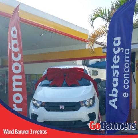 Wind Flag Banner no PDV - Promoção abasteça concorra