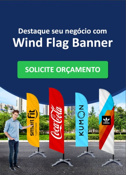 Solicite Orçamento - Lateral Wind Flag Banners - Blog GoBanners