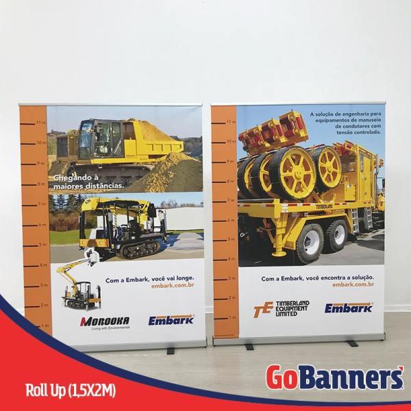 porta banner roll up retratil medidas empreendimentos imobiliario