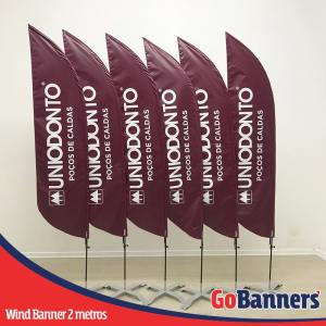 wind banner 2 metros uniodonto