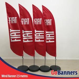 wind banner 2,5 metros fiat