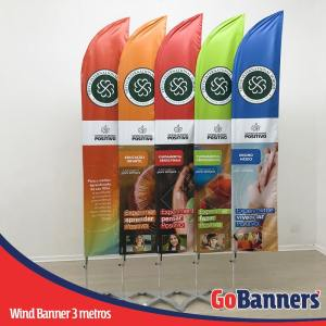 wind banner 3 metros colégio trevo sistema positivo