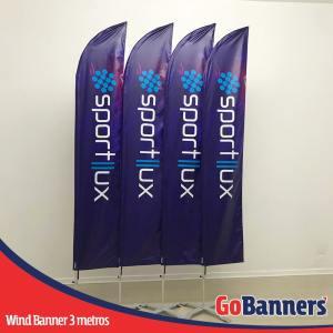 wind banner 3 metros sportllux
