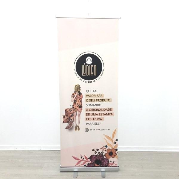 porta banner roll up retratil medidas estudio