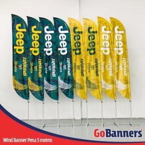 Wind Banner com 3 metros personalizado para JEEP