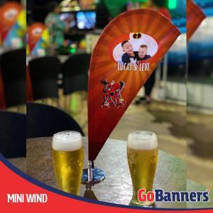 Mini Flag Banner personalizado ou Flag Banner de Mesa para aniversarios
