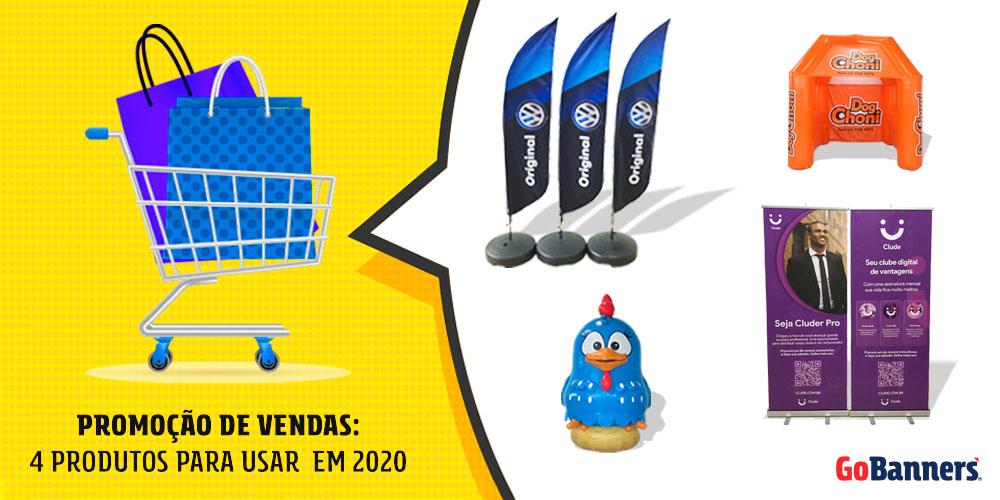 Promoção de vendas em 2020 - 4 produtos para usar