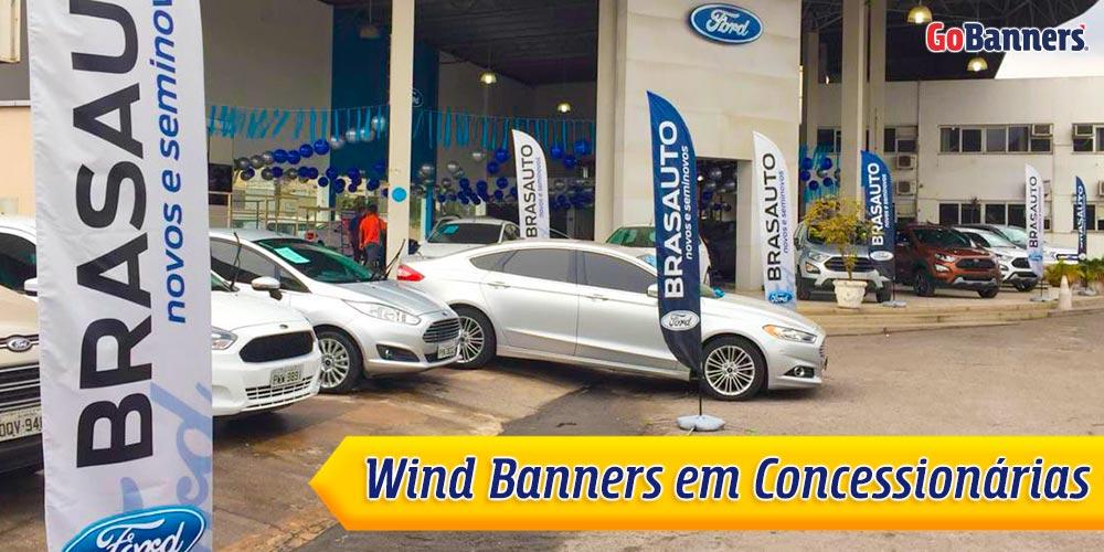 Windbanners em Concessionarias