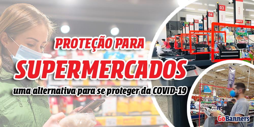 Divisória Antiviral para Supermercado