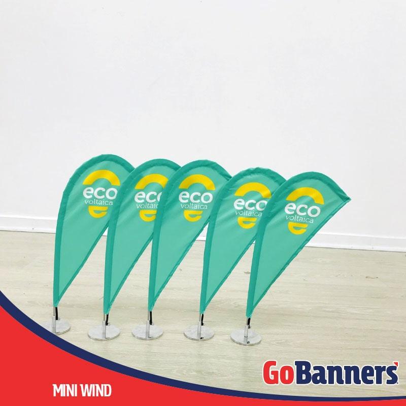 Durabilidade dos Banners Mini Wind Banner Ecovoltaica