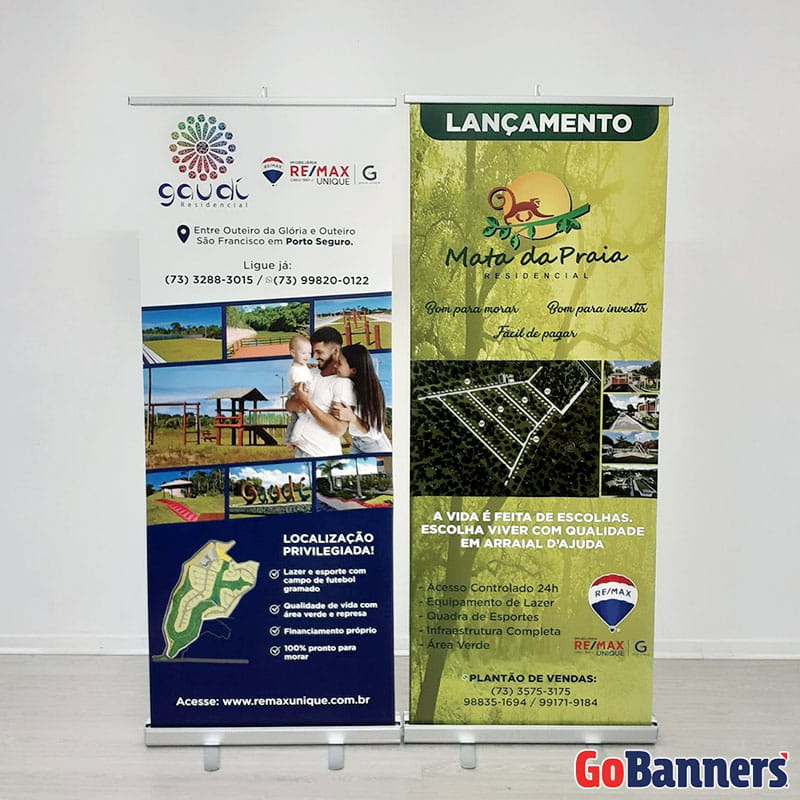 Durabilidade dos Banners Roll Up Remax