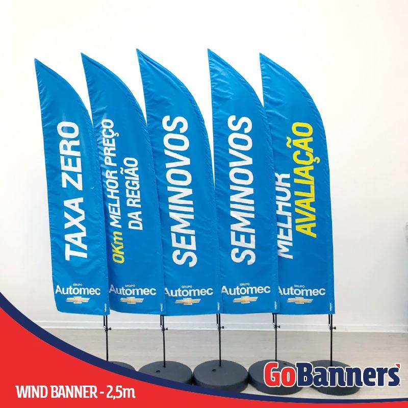 Durabilidade dos Banners Wind Banner Grupo Automec