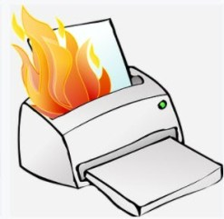 Printer fire by Clker-Free-Vector Images CC0 Public Domain