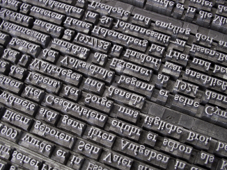 Gutenberg Editor, the printing press letters. The image by wilhei is a CC0 Public domain image from Pixabay.