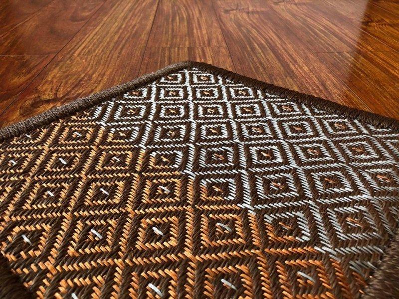 Gôbelins | Tendencias, crea la tuya | Gobelins Tapete Artesanal diseño rombos cobre estaño y fique