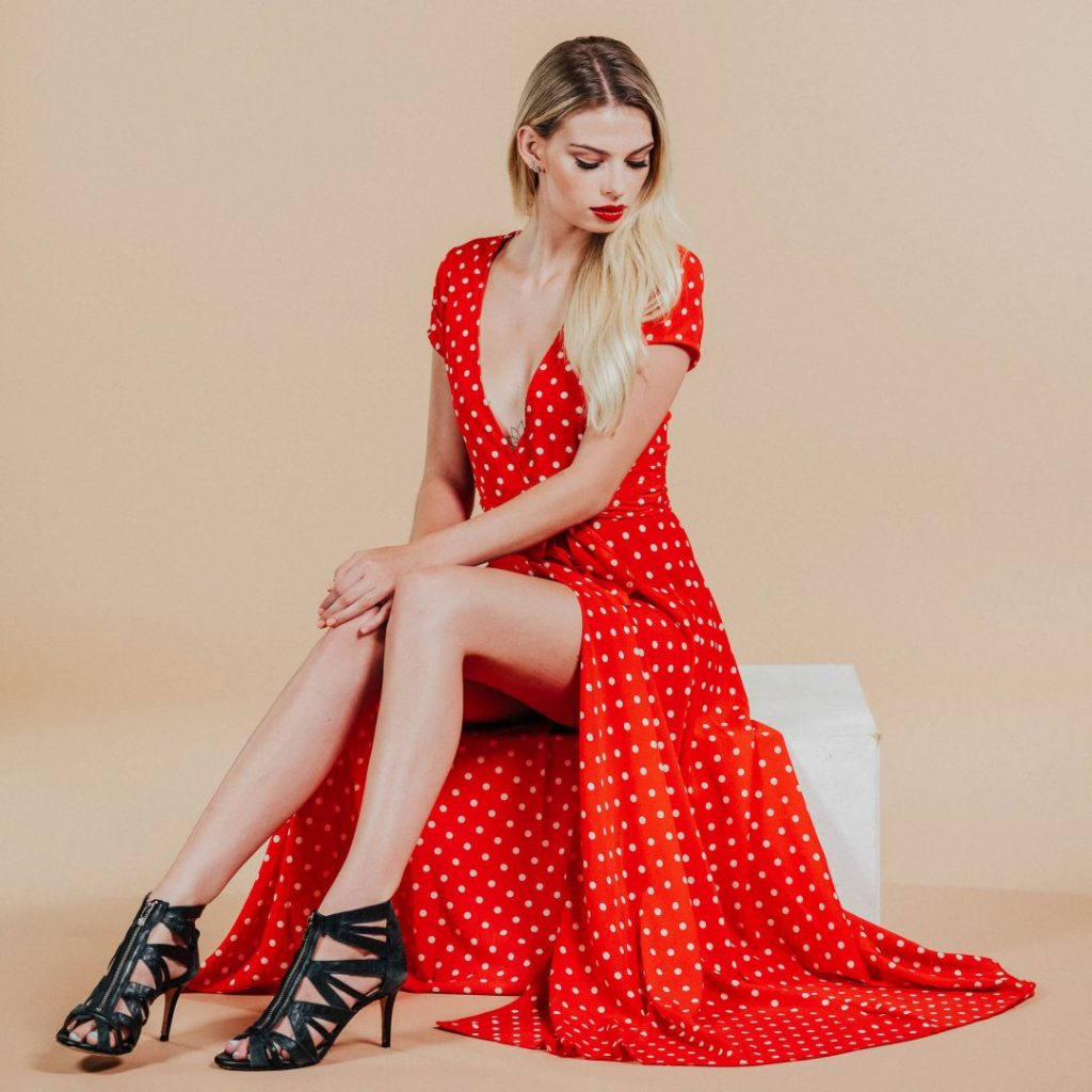 allanah red polka dot maxi dress0006