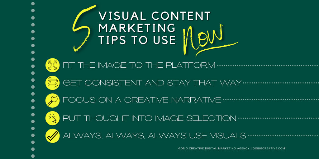 5 Visual Content Marketing Tips to Use Now