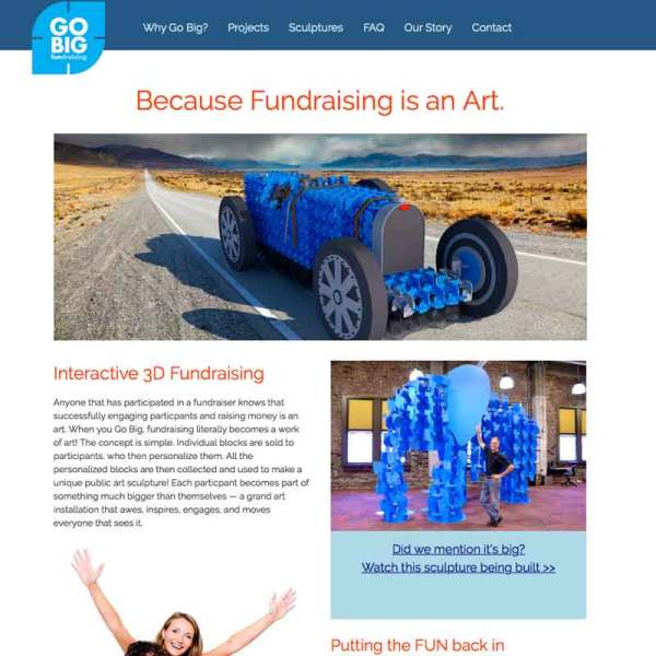 fundraising web site design