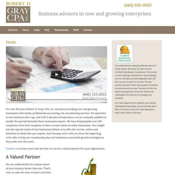 accounting web site design