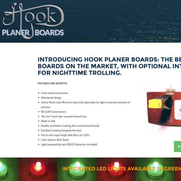 e-commerce web site design hook planer boards