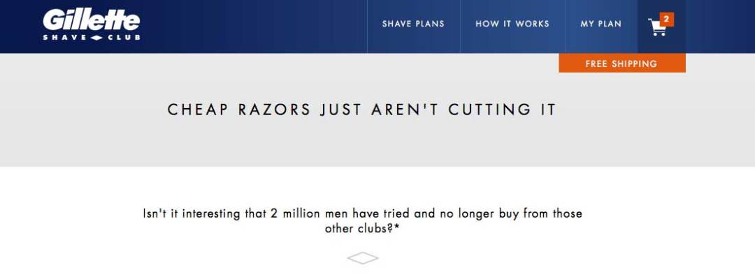 gillette shave club branding