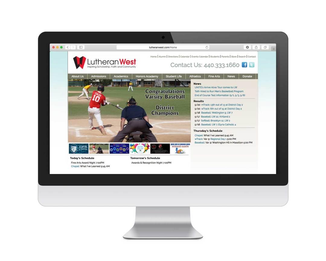 education branding - web site