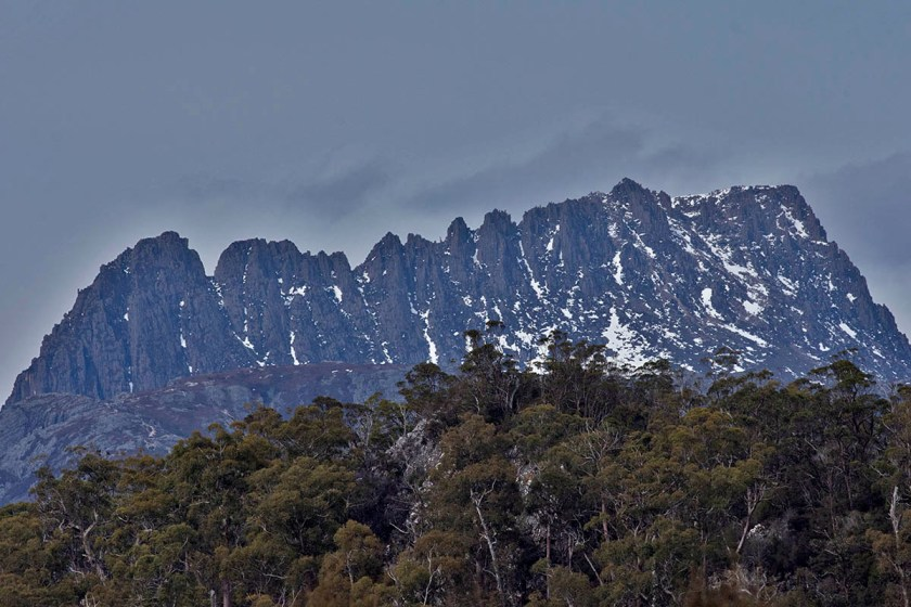 Cradle Mountain is usually covered in cloud