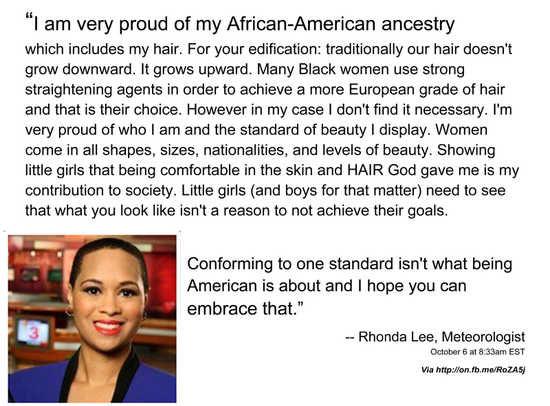 Rhonda Lee's Response