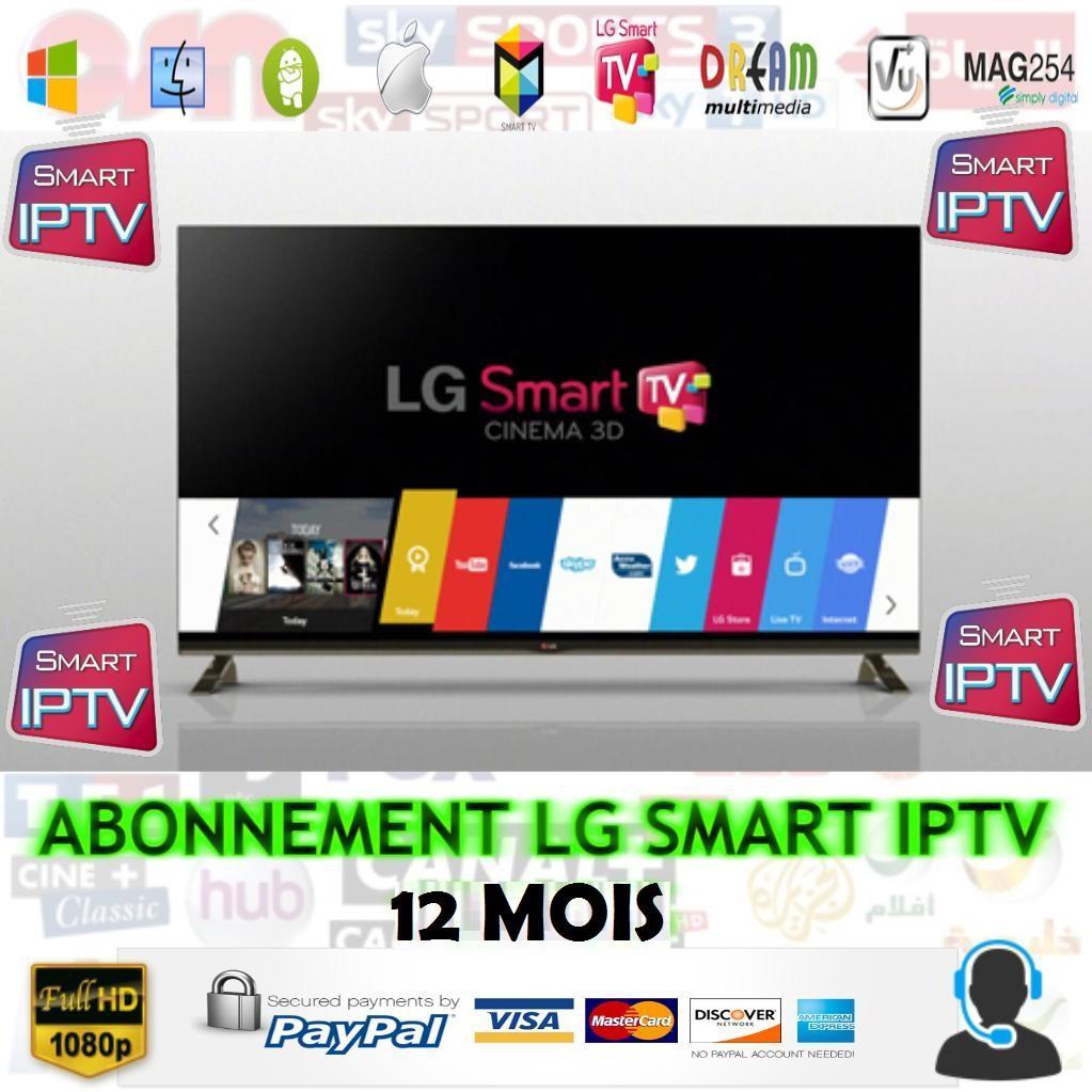 meilleur abonnement smart iptv lg smart tv 12m premium pas cher