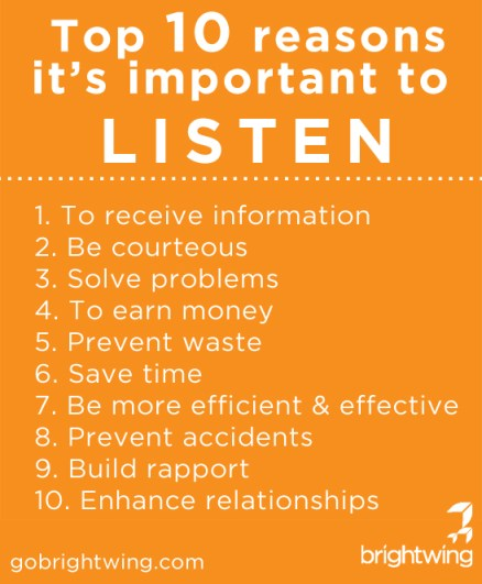Top 10 reasons it's important to listen